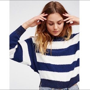 NWT- Free People Candyland Off Shoulder Sweater